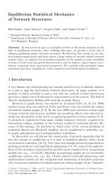 Equilibrium Statistical Mechanics of Network Structures