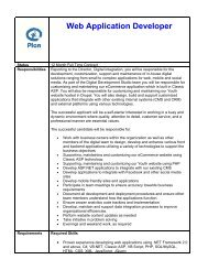 Web Application Developer - 1 year contract - Plan Canada