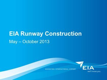 EIA Runway Construction - Edmonton International Airport