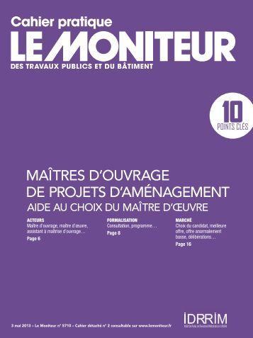 Cahier pratique – Le Moniteur n°5710 du 3 mai 2013 - Apua