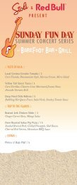 Menu - Paradise Point Resort & Spa