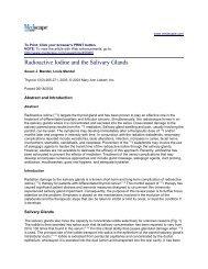 Radioactive Iodine and the Salivary Glands - Thyroid Cancer Canada