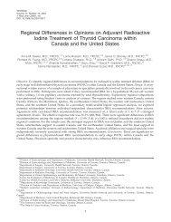 Regional Differences in Opinions on Adjuvant Radioactive Iodine ...