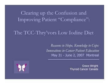 Compliance - Thyroid Cancer Canada