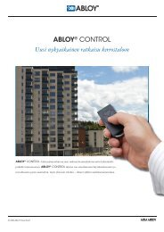 ABLOY® CONTROL Uusi nykyaikainen ratkaisu ... - Abloy Oy