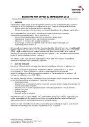 prosedyre for opptak av stipendiater 2011 - Program for kunstnerisk ...