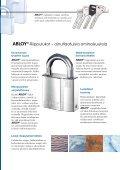 ABLOY®-RIIPPULUKOT Ennennäkemätöntä lujuutta - Abloy Oy - Page 3