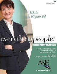 HR In Higher Ed - American Society of Employers