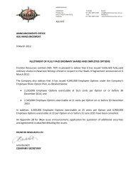 ANNOUNCEMENTS OFFICE ASX ANNOUNCEMENT 9 March 2012 ...