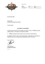 8 November 2007 ASX Limited Company Announcements Office ...