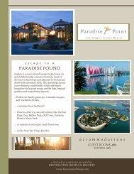 PARADISE FOUND - Paradise Point Resort & Spa