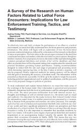 A Survey of the Research on Human Factors Related to Lethal Force ...
