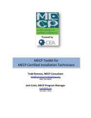 MECP Toolkit for MECP Certified Installation Technicians - MECP.com