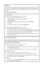 Kort vejledning til OversigtsKalender Udvidet version