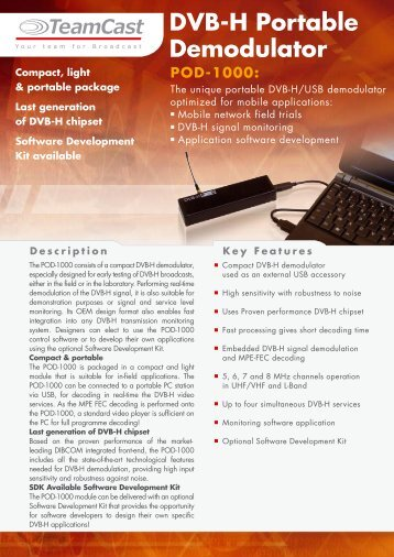 DVB-H Portable Demodulator
