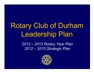 this link in a pdf format - The Rotary Club of Durham