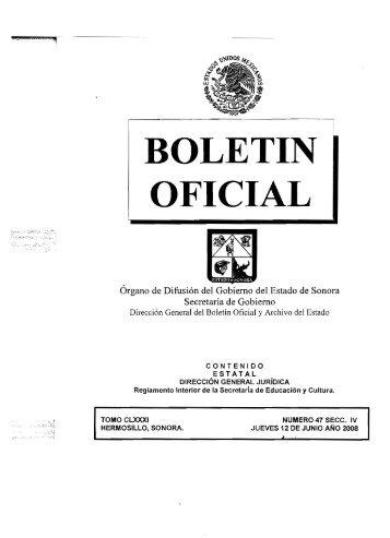 Reglamento Interior - Secretaría de Educación y Cultura