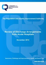 Review of Discharge Arrangements from Acute Hospitals, November 2014