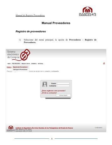 Manual Proveedores - Sistema Electrónico de Compras