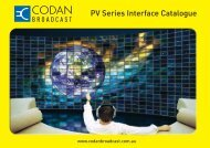 PV Series Interface Catalogue - ValTech Video DOO