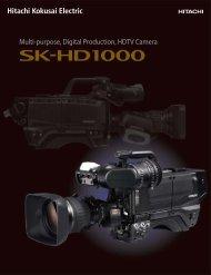 Multi-purpose, Digital Production, HDTV Camera - ValTech Video ...