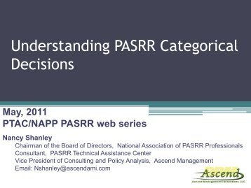 Understanding PASRR Categorical Decisions - pasrr.org