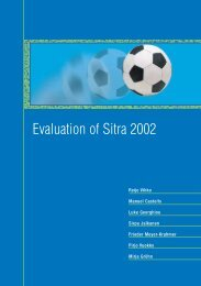 Evaluation of Sitra 2002