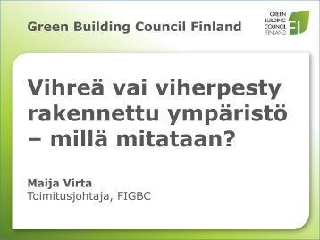 Maija Virta, Green Building Council Finland - Sitra