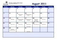 ASA School Calendar 2011-2012-1 - All Saints Academy