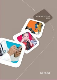 ANNUAL REPORT 2007 - Sitra