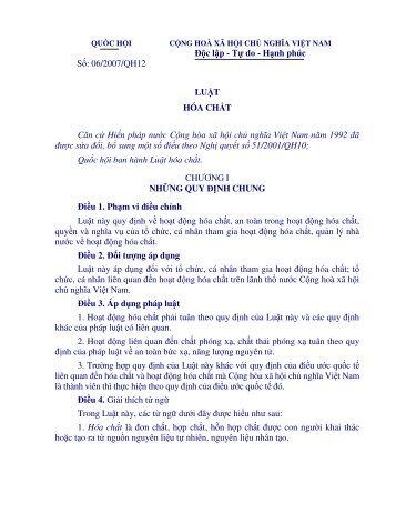 Số văn bản 06/2007/QH12 , Ngày ký: 21-11-2007, Ngày hiệu lực