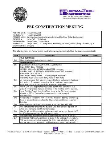 preconstruction meetings