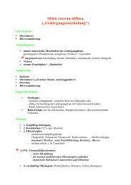 "Otitis externa diffusa (""Gehörgangsentzündung"")"