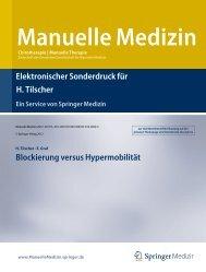 Blockierung versus Hypermobilität - Prof. Dr. Tilscher