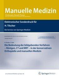 Die Beudetung der bildgebenden Verfahren in ... - Prof. Dr. Tilscher