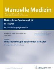 Infiltrationstherapie bei alternden Menschen - Prof. Dr. Tilscher