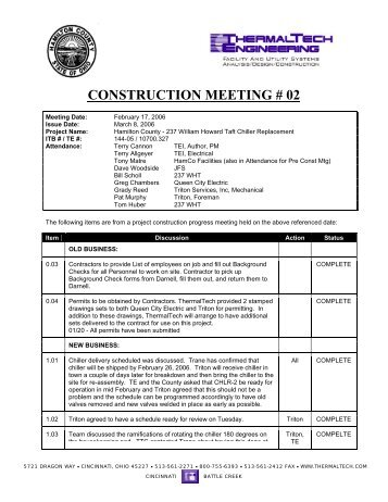 CONSTRUCTION MEETING # 02 - Facilities Projects Home