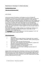 WebAmbulanz 6. Studienjahr / Dr. Martina Scharitzer ...