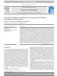Interannual variability in chlorophyll concentrations in the Humboldt ...