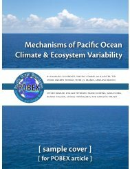 Mechanisms of Pacific Ocean Climate & Ecosystem Variability ...