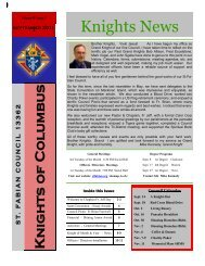 Knights News - Saint Fabian Catholic Church