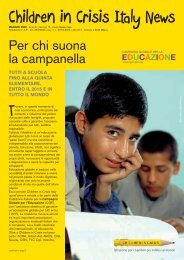 Newsletter Maggio 2009 - Children in Crisis