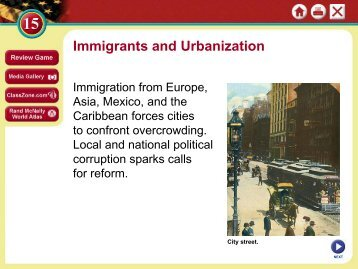 Immigrants and Urbanization - Duluth High School