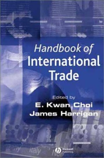 Blackwell,.Handbook of International Trade, Volume I.[2003 ...
