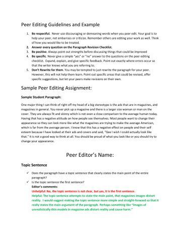 checklist editing essay 5 paragraph essay checklist and rubric paragraph 5- conclusion (this paragraph is optional and not worth points) points possible student check teacher grade grammar.