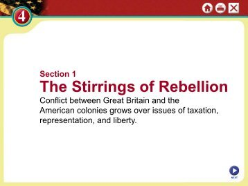 Section 1 The Stirrings Of Rebellion - Duluth High School