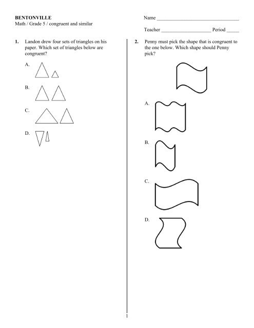 Similar And Congruent Triangles Pdf Similarity And Congruence Stem This Means When Triangles Are Congruent We Can Write A Congruency Statem Beatrice Euler
