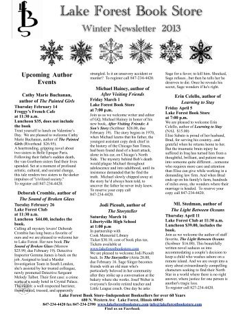 News winter 13 final ***.pdf - Lake Forest Book Store