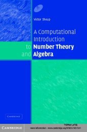 A Computational Introduction to Number Theory and Algebra - Free