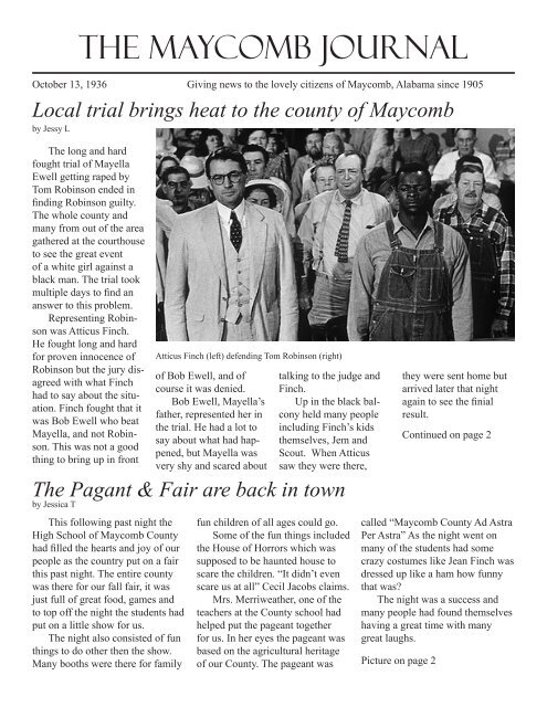 THE MAYCOMB JOURNAL